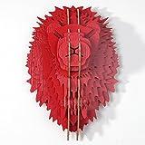 Lion's Head Wand hängen kreative Dekoration Tier Wandmalereien Nordic wand Verzierungen auf dem Wandbild Typ: Tier Deko Farbe Klassifizierung: Eiche, Nussbaum, Weiß, Gelb, Rot, Grün,...