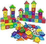 FunBlast Building Blocks for Kids – 72 Pcs, Big Size House Building Blocks with Windows, Block Game for Kids,B