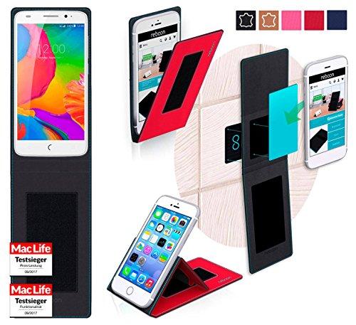 reboon Hülle für UMi eMax Mini Tasche Cover Case Bumper | Rot | Testsieger
