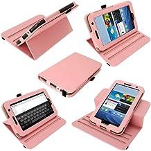iGadgitz A1968 Folio Rosa funda para tablet - fundas para tablets (Folio, Rosa, cuero PU, Samsung, Samsung Galaxy Tab 2, Resistente a rayones)