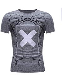 40378a1c3 Waotier Camiseta De Manga Corta para Hombre Camiseta Casual De Moderno con  Cuello Redondo De ImpresióN