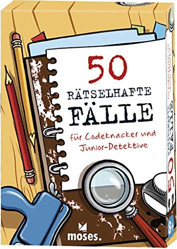 Produktbild moses. 50 rätselhafte Fälle für Codeknacker und Junior-Detektive | Kinderbeschäftigung | Kartenset