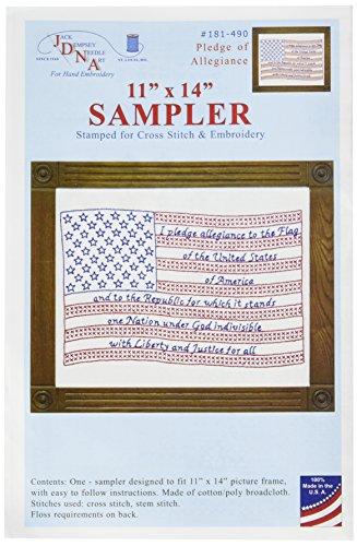 Jack Dempsey Muster, 28 x 36 cm, Weiß -