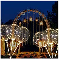 Youngnet LED Light Balloons, Reusable Luminous LED Balloon Flashing Transparent Round Bubble 3M Warm White String Lights for Party Wedding Birthday Valentine