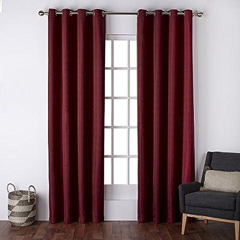 Esclusivo casa Firenze in finta seta occhielli tenda di finestra pannelli (Set di 2), 137,2x 243,8cm Marino Chili