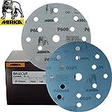 """Mirka Basecut Velcro 150mm/6""""discos de papel de lija–Caja 1006"""" abrasive P600grano Super Fine Automotive barnizado de papel de lija discos de papel de lija 15agujero al vacío sistema de extracción de polvo"""