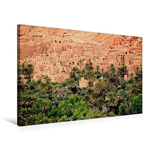 CALVENDO Orte: Premium Textil-Leinwand 75 cm x 50 cm quer, Dattelpalmen bei Tinerhir, Marokko | Wandbild, Bild auf Keilrahmen, Fertigbild auf echter Leinwand, Leinwanddruck