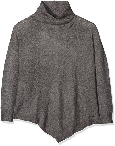 TOM TAILOR Pointed Turtleneck Sweater, Pull Femme Gris (Smoked Pearl Grey 2103)