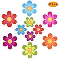 Outivity Nonslip Bathtub Stickers, 20 Pieces Floral Baby Bathtub Stickers, Anti-Slip Appliques for Bath Tub and Shower Room (10)