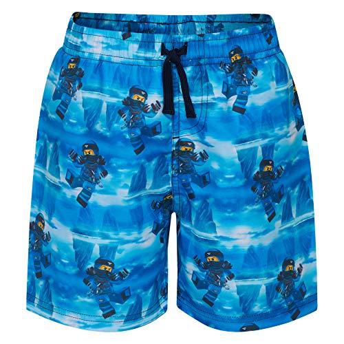 LEGO Wear Boy Ninjago Platon 303-Badeshorts Bañador, Azul Blue 551, 104 para Niños