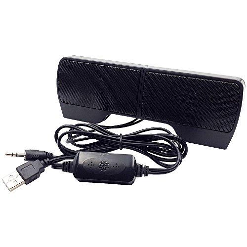 IMODA 2.0 USB Lautsprecher Clip Computer lautsprecher Mini 3,5mm Audio Buchse Stereo Lautsprecher für Desktop-PC, Laptop, Tablets und zu Hause oder im Büro (Clip-Speaker)