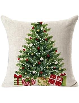 Kissenbezug Kolylong® 45cm x 45cm Christmas Drucken Kissenbezug Sofa Bett Heimtextilien Home Decor Festival Kissen...
