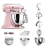 KitchenAid Küchenmaschine | VORTEILS SET | Artisan 5KSM175PS Eiscreme Paket | inklusive Speiseeismaschine und Eisportionierer für hausgemachte Dessert-Kreationen (Seidenpink)