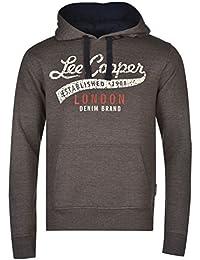 Lee Cooper Hommes Enfiler Logo Sweater Sweat A Capuche Hoodie Hoody Top Haut