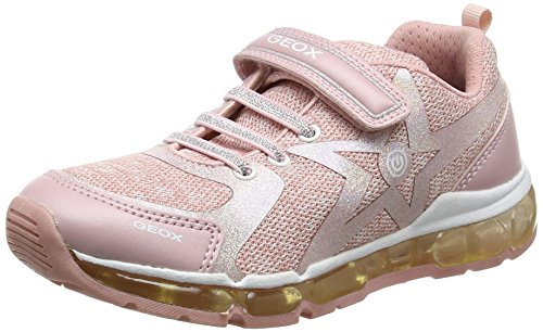 Geox Mädchen J Android Girl B Sneaker, Pink (Rose/White), 38 EU