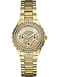 Guess Analog Gold Dial Women's Watch - W0111L2