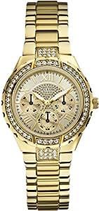 Guess Analog Gold Dial Women's Watch - W0111L2