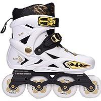 ZCRFY Patines En Línea Skate Patines Adultos Patines para Adultos Y Hombres Patines De Una Sola Fila Zapatos Planos Zapatos De Patinaje,White-37