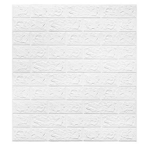 3d carta da parati mattoni bianco, dligr sromez decorazione murale stickers murali per cucina ufficio tv sfondo bambini 77cm*70cm*0.7cm,3pcs