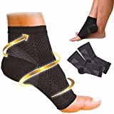 Zooarts 1 Pair Foot Angel Ankle Sleeve Anti Fatigue Compression Swelling Relief Socks (L/XL)
