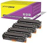CRG718 Printing Saver Lot de 4 Compatibles Cartouches de Toner pour Canon i-SENSYS LBP7200CDN LBP7210CDN LBP7660CDN MF8330CDN MF8340CDN MF8350CDN MF8360CDN MF8380CDW MF8540CDN MF8550CDN MF8580CDW
