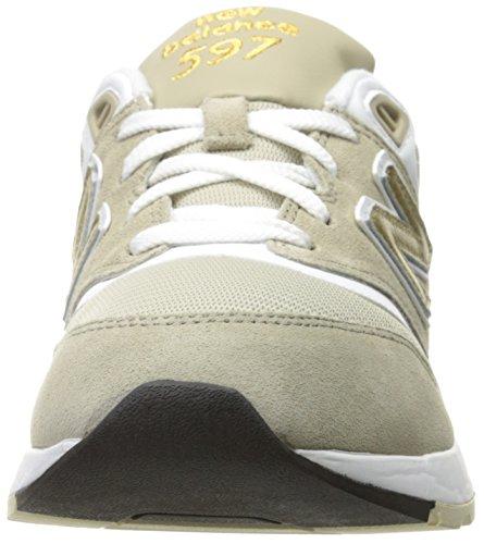 New Balance 597, Scarpe da Ginnastica Basse Uomo Trench/White