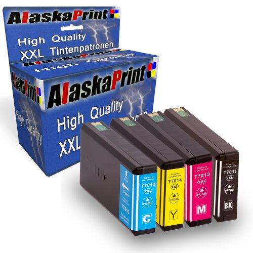 4 XXL Compatibili Cartucce con Epson T7011 - T7014 / T7015 per Epson WorkForce Pro WP-4015 WP-4025 WP-4025DW WP-4095 WP-4500 WP-4515 WP-4525 WP-4525DNF