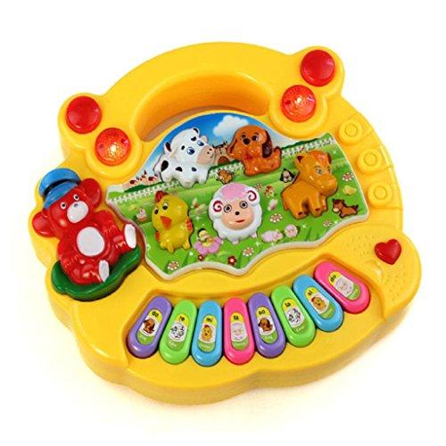 ongra Coolplay Baby Kind Kleinkind Musical Educational Animal Farm Klavier Elektronische Tastatur Musik Entwicklung Kinder Spielzeug 17 * 15 * 3cm (b) (Kunststoff-klavier-tastatur)