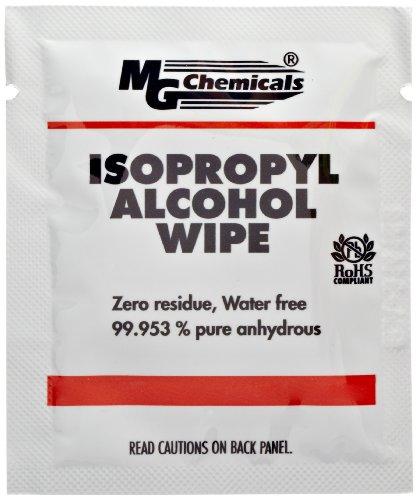 Preisvergleich Produktbild MG Chemicals 824-wx50 Handlich abwischbar,  99, 9% Isopropylalkohol,  15, 2 cm Länge x 12, 7 cm Breite (50 Stück)