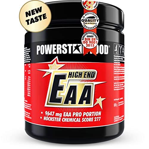 EAA HIGH END | 600g | Alle 8 essentiellen Aminosäuren in reinster, mikrokristalliner Form | MAXIMALER CHEMICAL SCORE VON 277 | 100% instantisiert | sehr guter Geschmack | Fruit Punch -