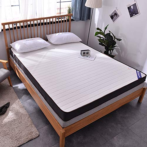 RZH Memory Foam Matratze,Pad Bett Topper Verdicken Massage Matratze Für Doppel Einzigen Königin König Bett,Weiß,150X200cm10cm