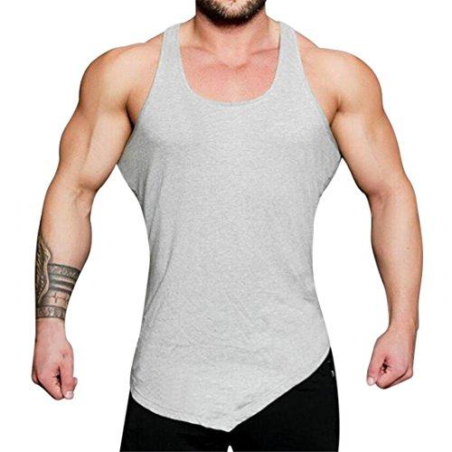 TEELONG Herren Fitnessstudio Bodybuilding Fitness Muskel ärmelloses Unterhemd -