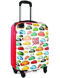 Fiat 500diseño schalentrolley en 40x 55x 20pulgadas ligero equipaje de mano maleta de cabina con TSA Lock