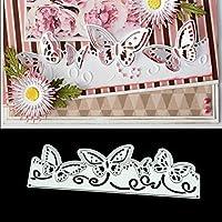 BINGHONG3 Butterfly Lace DIY Metal Cutting Dies Stencil Scrapbooking Photo Album Stamp Paper Card Crafts Decor