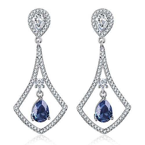 CJH Fashion Crystal Earrings Women Fashion Cool Long European Earrings Pink
