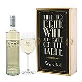 Leonardo Geschenkset Wein mit graviertem Weinglas und Bree Chardonnay in Präsentbox