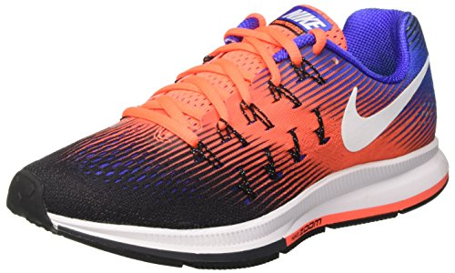 Nike 831352, Scarpe da Corsa Uomo Multicolore (Black/White/Hyper Orange/Paramount Blue/Anthracite)