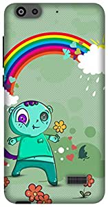 The Racoon Lean Happy Monsters hard plastic printed back case/cover for Huawei Honor 4C