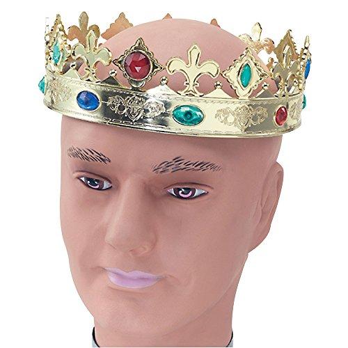 Kostüm Tudor König Henry - Bristol Novelty BA758 Regal Krone, Einheitsgröße
