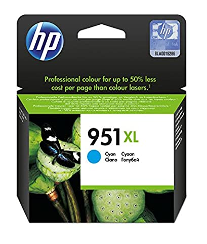 HP Inc. Ink 951XL Cyan Pages 1.500, CN046AE#301 (Pages 1.500 High capacity, 1-Pack)