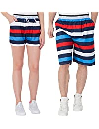 Fflirtygo Combo Of Summer Shorts For Men And Women, Gym Wear Yoga Exercise Walk Jogging Workout Active Sports...