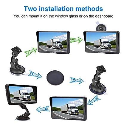 GPS-Navi-Navigation-fr-Auto-LKW-PKW-Aonerex-9-Zoll-Navigationsgert-mit-Sonnenschirm-POI-Sprachfhrung-Fahrspurassistent-Europa-Maps-Lebenslang-Kartenupdates