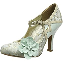 Ruby Shoo Cindy, Damen Pumps , Grün - Green (Mint/Gold) - Größe: 40 EU (7 UK)