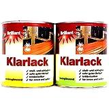 0,75L Brillant Klarlack hochglänzend Kunstharzlack Parkettlack farblos Lack