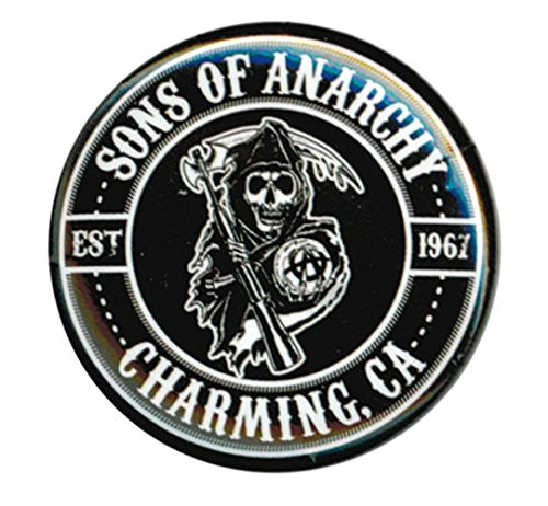 Preisvergleich Produktbild Sons Of Anarchy Charming, Ca Est 1967 Button