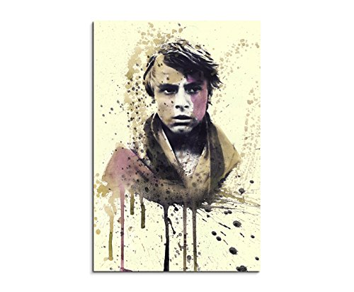 Paul Sinus Art Star_Wars_Luke_Skywalker_90x60-SA Wandbild Leinwand, 90 x 50 x 3 cm, mehrfarbig