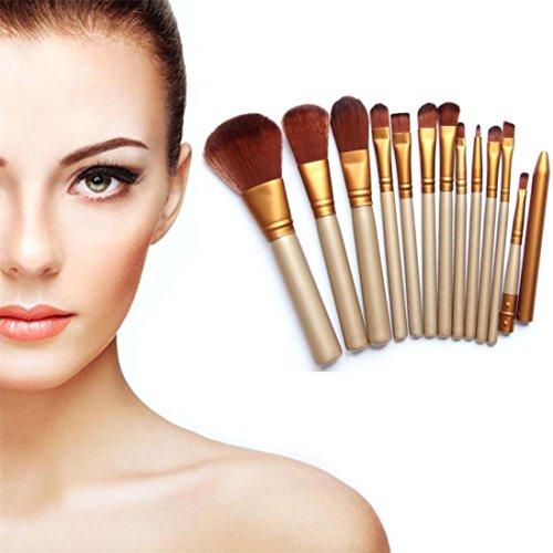 Preisvergleich Produktbild Schmink Pinsel,Amlaiworld Pro Make-up 12pcs Pinsel Set Powder Foundation Lidschatten Eyeliner Lippe Pinsel Werkzeug