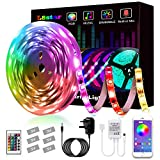 LED Strips Lights, L8star Led Lights Smart Color Changing Rope Lights 16.4ft(5m) SMD 5050 RGB Lights Strips Sync with Music Apply for TV, Bedroom, Party and Home Decoration (16.4ft)