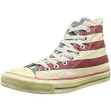 Converse All Star High Graphics - Zapatillas tipo bota para hombre, diseño a rayas