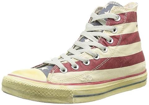 Converse Stars and Bars Vintage, Baskets mode homme, Mehrfarbig - Multicolore (Blanc/Bleu/Rouge 03), 38 EU